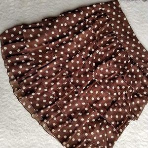 Fit2Go brown polka dot skirt size L